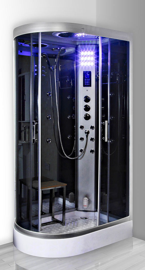 cabine de douche hydromassante insignia neptune hydro miroir gauche 80x120. Black Bedroom Furniture Sets. Home Design Ideas